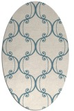 rug #743201 | oval white traditional rug