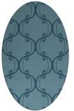 rug #743204 | oval traditional rug