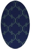 rug #743209 | oval blue traditional rug