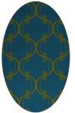 rug #743237 | oval green traditional rug