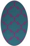 rug #743241 | oval pink popular rug