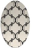 rug #743253 | oval blue-green popular rug
