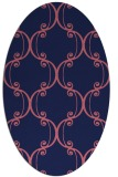rug #743269   oval pink traditional rug