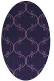 rug #743273 | oval purple traditional rug