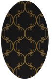 rug #743293   oval black damask rug