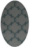 rug #743305 | oval green popular rug