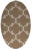 rug #743329 | oval beige damask rug