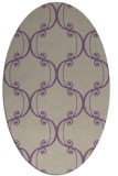 rug #743357   oval purple traditional rug