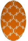 rug #743369   oval orange traditional rug