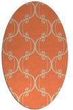 rug #743373   oval beige damask rug