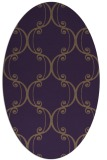 rug #743409   oval purple traditional rug
