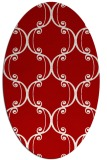 rug #743417 | oval red traditional rug