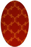 rug #743421 | oval red traditional rug