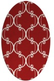 rug #743425 | oval red traditional rug