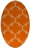 rug #743437 | oval red-orange damask rug