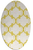 rug #743453 | oval white traditional rug