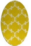 rug #743477   oval yellow traditional rug