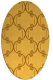 rug #743481 | oval yellow traditional rug