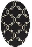 rug #743485 | oval black traditional rug