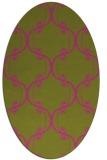 rug #743505 | oval light-green rug
