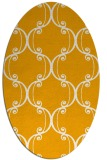 rug #743513 | oval light-orange damask rug