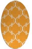 rug #743525 | oval white damask rug