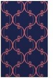 rug #743621 |  blue-violet damask rug