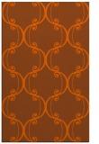 rug #743793 |  red-orange traditional rug