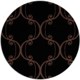 rug #743897 | round black traditional rug