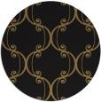 rug #743901 | round brown damask rug