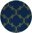 rug #743917 | round green damask rug