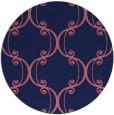 rug #743973 | round pink damask rug