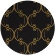 rug #743997 | round mid-brown damask rug