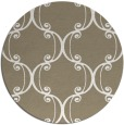 rug #744021 | round mid-brown traditional rug