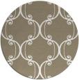 rug #744021 | round mid-brown damask rug