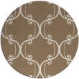 rug #744033 | round beige damask rug