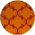 rug #744069 | round red-orange damask rug