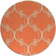 rug #744077 | round beige damask rug