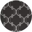 rug #744081 | round orange damask rug