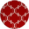 rug #744121 | round red traditional rug