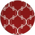 rug #744129 | round red traditional rug