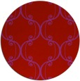 rug #744133 | round red traditional rug