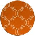 rug #744141   round red-orange traditional rug