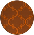 rug #744145 | round red-orange damask rug