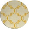 rug #744169   round yellow damask rug