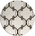 rug #744177 | round brown damask rug