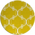 rug #744181 | round yellow traditional rug