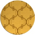 rug #744185 | round yellow damask rug