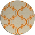 rug #744197 | round orange damask rug