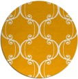 rug #744217 | round light-orange traditional rug
